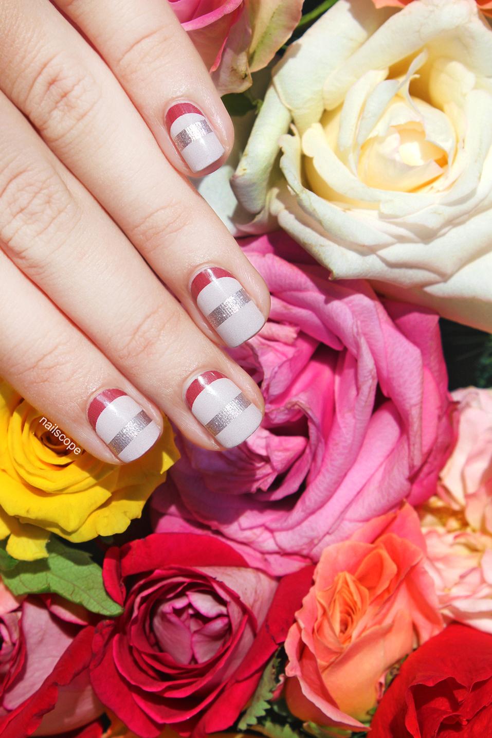 SoNailicious x Jamberry nail wraps: Suave French Twist