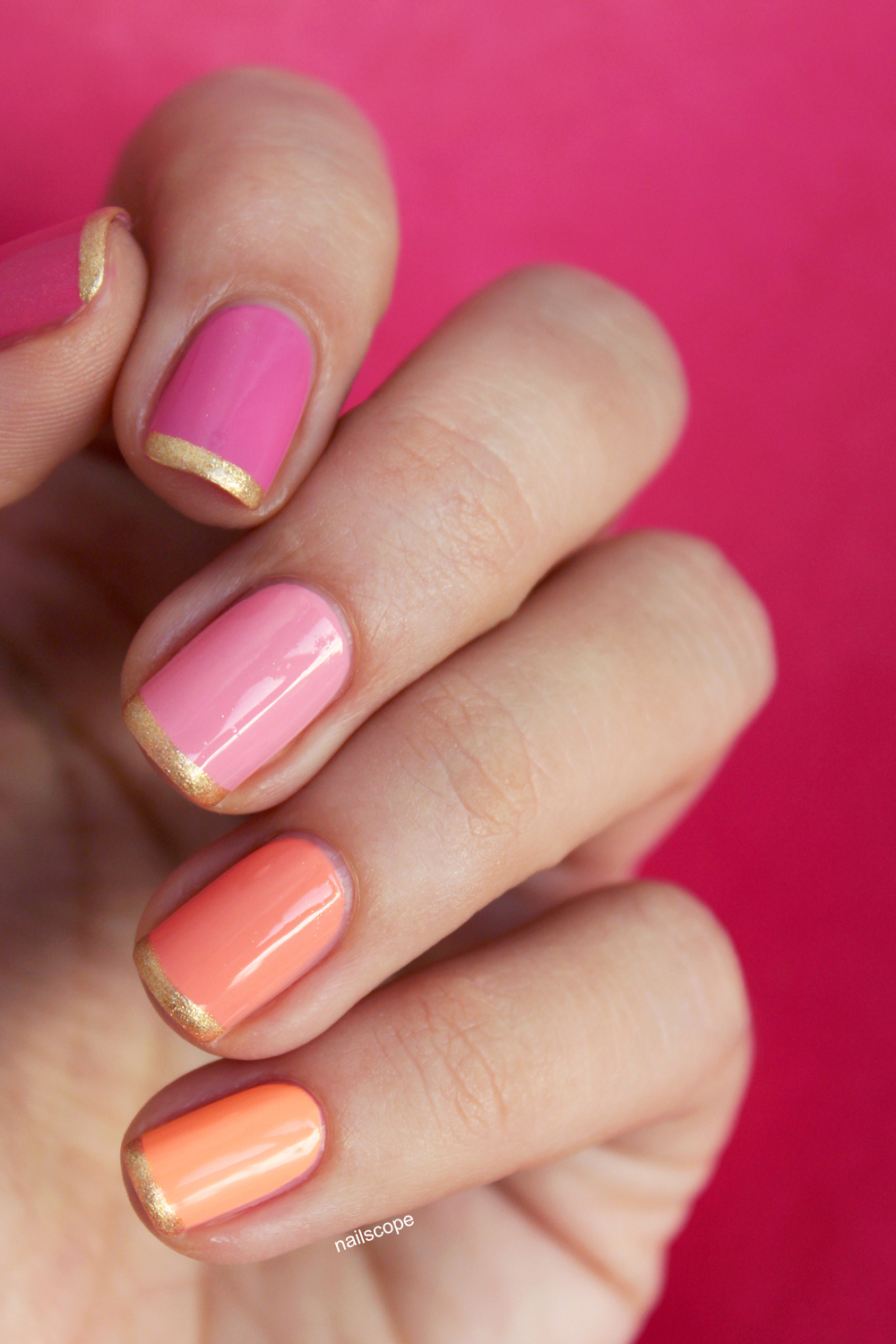 Ombre Gold French Nails