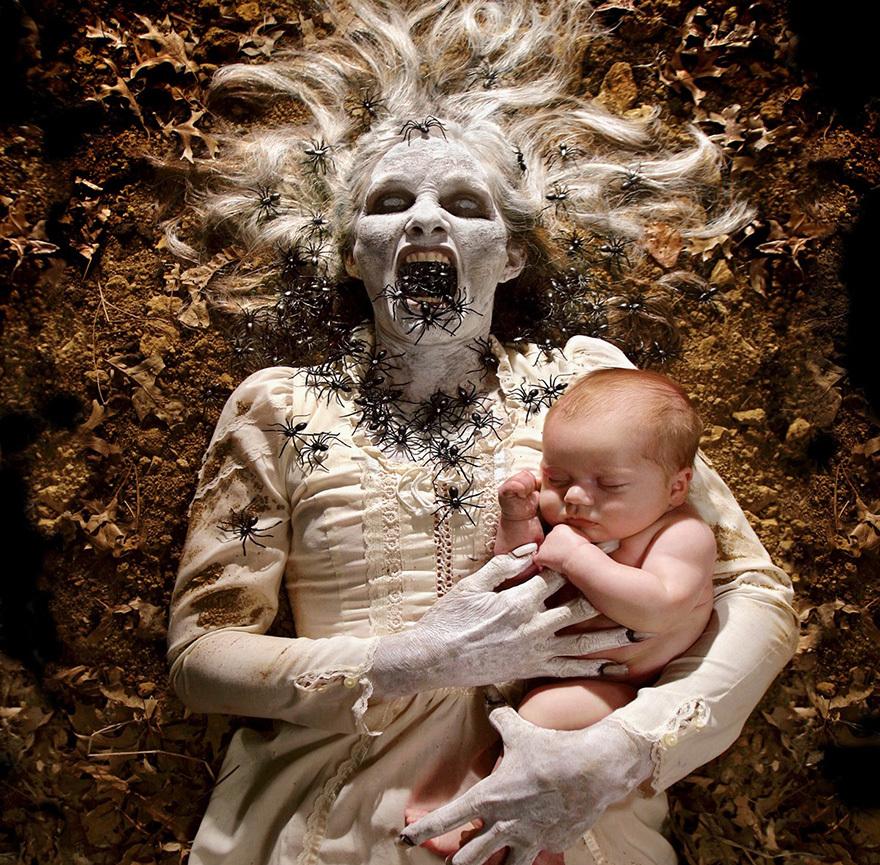 Joshua Hoffine ir fotogrāfs, kuram patīk pavadīt laiku kopā ar savām meitām.