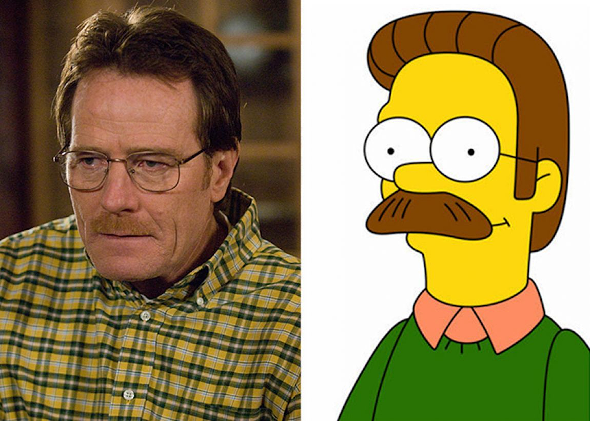 Walter White - Ned Flanders (The Simpsons)