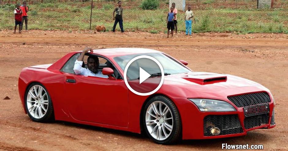 FOTO/VIDEO: AFRIKĀŅU INŽENIERIS UZBŪVĒJIS SAPŅU AUTO NO AUDI UN BMW DETAĻĀM
