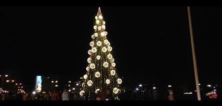 VIDEO: EGLES IEDEGŠANA JELGAVĀ 27.11.2016